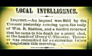 Results of Coroner Inquest Mobile Daily Register June 22, 1870