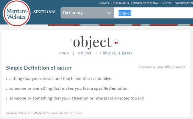 object-defined