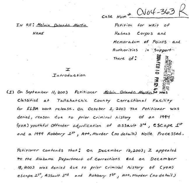 complaint 1st page
