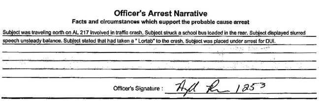officer narrative
